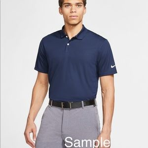 Nike Men's Navy Blue Dri-Fit Golf Polo